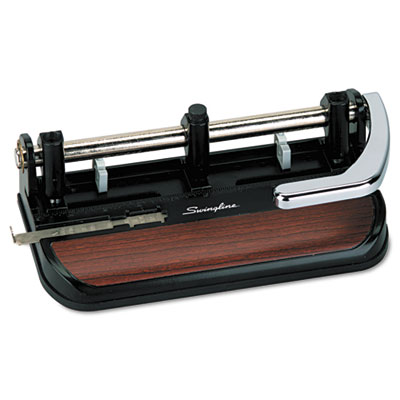 Swingline® Accented Heavy-Duty Lever Action Two- to Three-Hole Punch