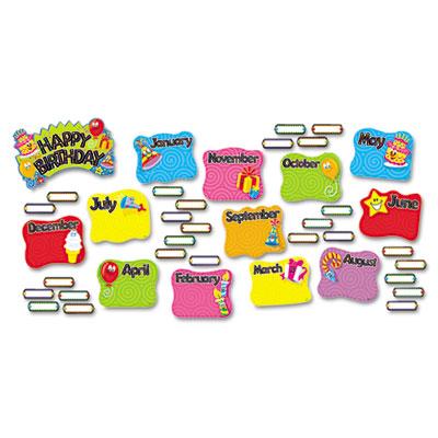 TREND Happy Birthday Mini Bulletin Board Set At