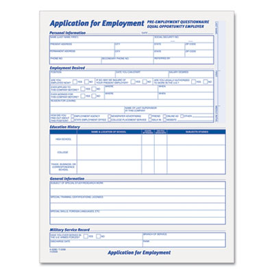 Tops™ Comprehensive Employee Application Form At Nationwide