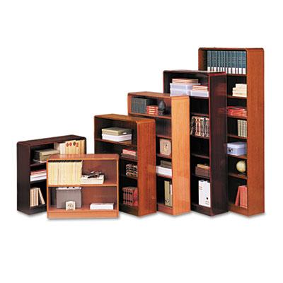 Alera® Veneer Radius Corner Bookcase