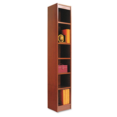 Alera® Narrow Profile Bookcase With Finished Back