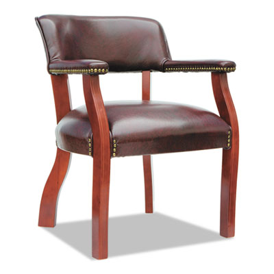 Alera® Traditional Series Guest Arm Chair with Casters