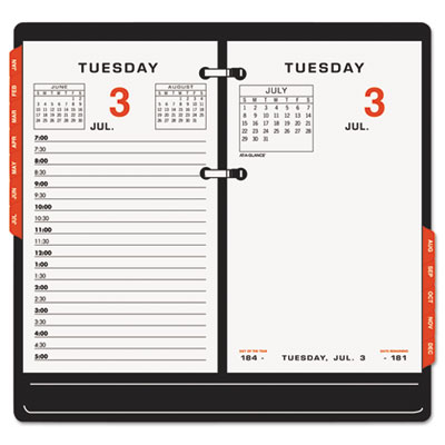 AT-A-GLANCE® Two-Color Desk Calendar Refill