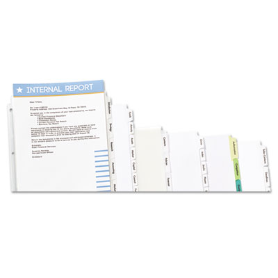 Avery® Index Maker® Print & Apply Clear Label Unpunched Dividers for Binding Systems with White Tabs