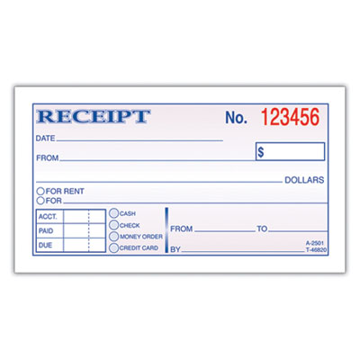 Adams® Receipt Book