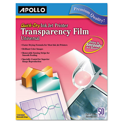 Apollo® Inkjet Printer Transparency Film