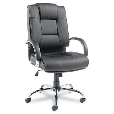 Alera® Ravino Big and Tall Series High-Back Swivel/Tilt Leather Chair