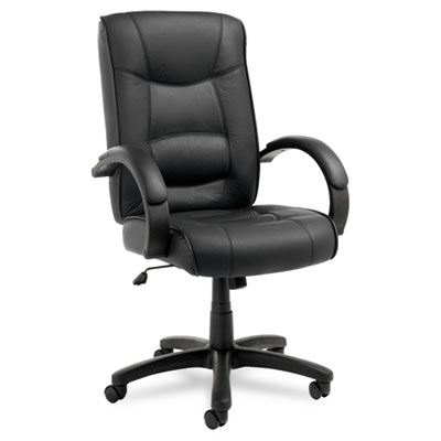 Alera® Strada Series High-Back Swivel/Tilt Top-Grain Leather Chair