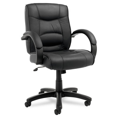 Alera® Strada Leather Mid-Back Swivel/Tilt Chair