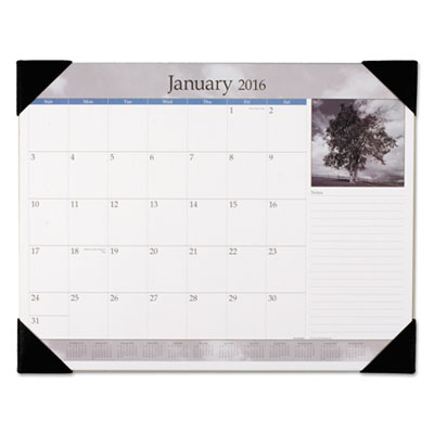 AT-A-GLANCE® Black-and-White Desk Pad