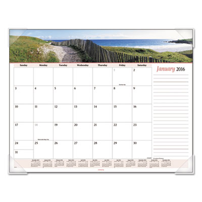AT-A-GLANCE® Seascape Panoramic Desk Pad