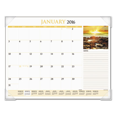 AT-A-GLANCE® Scenic Monthly Desk Pad Calendar