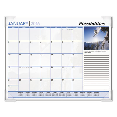 AT-A-GLANCE® Inspirational Monthly Desk Pad Calendar