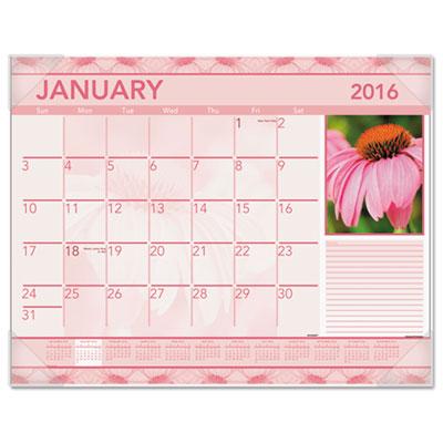 AT-A-GLANCE® Antique Floral Monthly Desk Pad Calendar