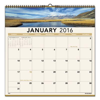 AT-A-GLANCE® Open Plan Landscape Wall Calendar
