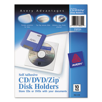 Avery® Self-Adhesive Media Pockets