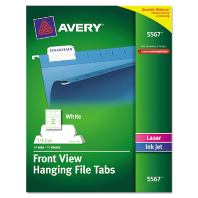 Avery® Printable Hanging File Tabs