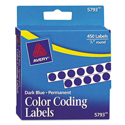 Avery® Permanent Self-Adhesive Round Color-Coding Labels