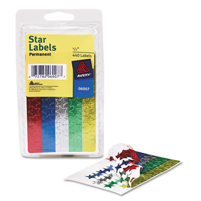 Avery® Colored Foil Stars