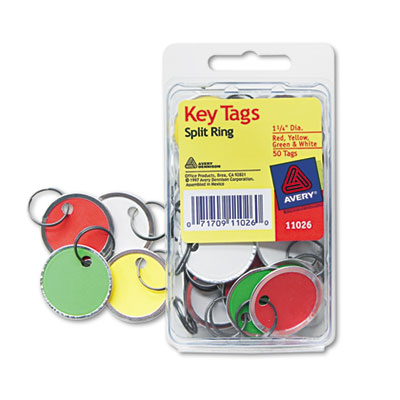 Avery® Metal Rim Key Tags