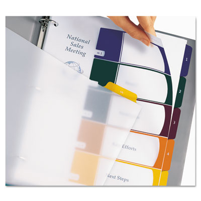 Avery® Ready Index® Customizable Executive Table of Contents Multicolor Dividers