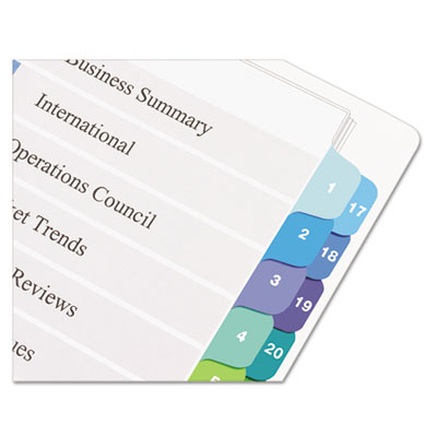 Avery® Ready Index® Customizable Table of Contents Double Column Dividers
