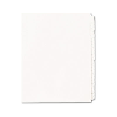 Avery® Blank Tab Legal Exhibit Index Dividers with White Tabs
