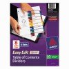 Avery® Ready Index® Customizable Easy Edit Table of Contents Multicolor Dividers
