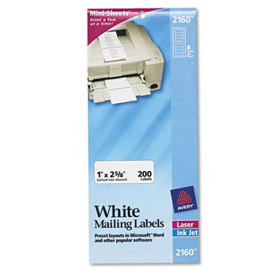 Avery® Mini-Sheets® Address Labels