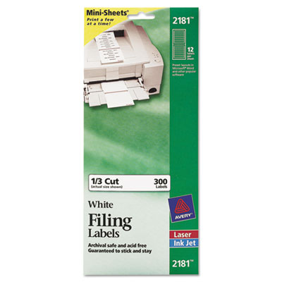 Avery® File Folder Labels on Mini-Sheets®
