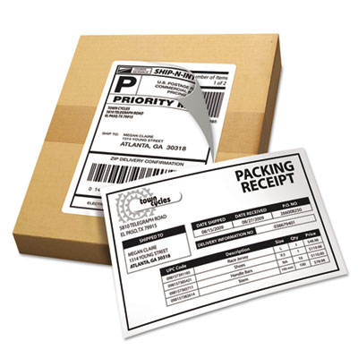 Avery® Shipping Labels with Paper Receipt & TrueBlock® Technology