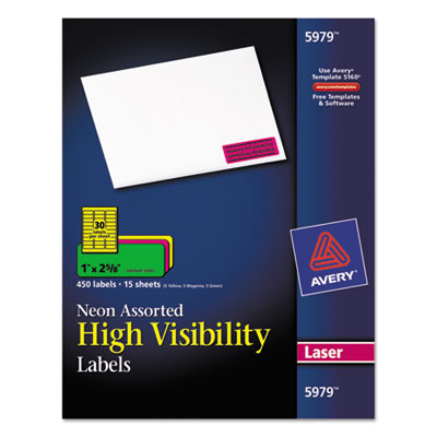 Avery® High-Visibility Labels