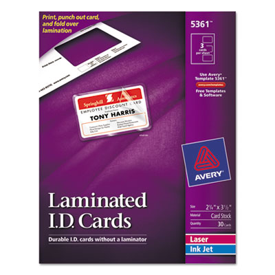 Avery® Self-Laminating ID Cards