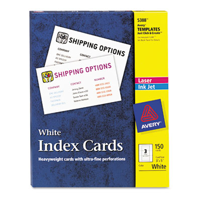 Avery® Printable Index Cards