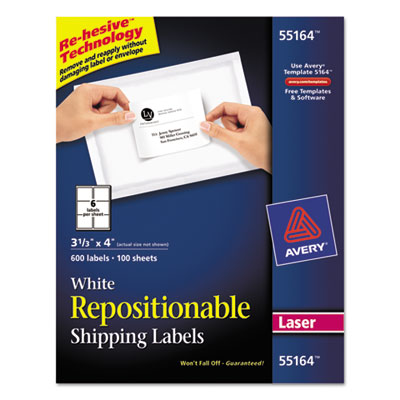 Avery® Repositionable Labels