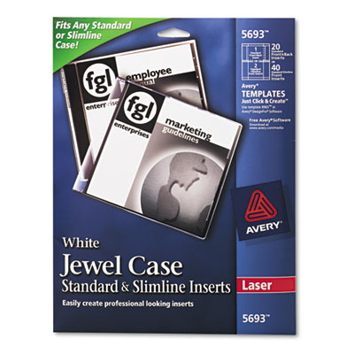 Avery® Jewel Case Inserts