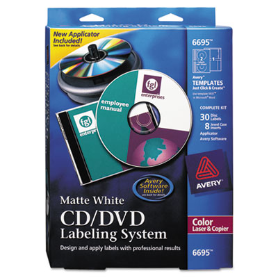 Avery® CD/DVD Design Labeling Kits