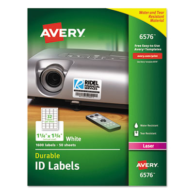 Avery® Permanent Durable ID Labels with TrueBlock® Technology