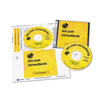 Avery® CD/DVD Label & Insert Combo Sheets
