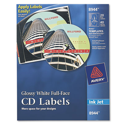 Avery® Full-Face CD Labels