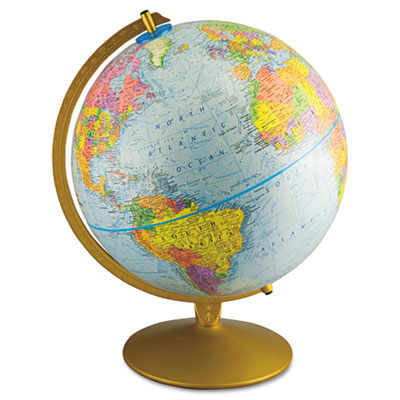 Advantus® World Globe w/Blue Oceans