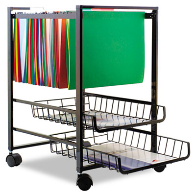 Advantus® Mobile File Cart with Sliding Baskets