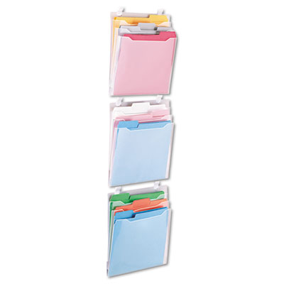 Advantus® Three-Pocket Panel Wall Organizers