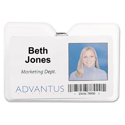 Advantus® ID Badge Holders with Clip