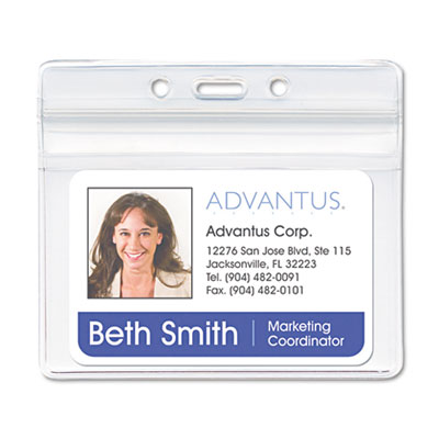 Advantus® Resealable ID Badge Holders