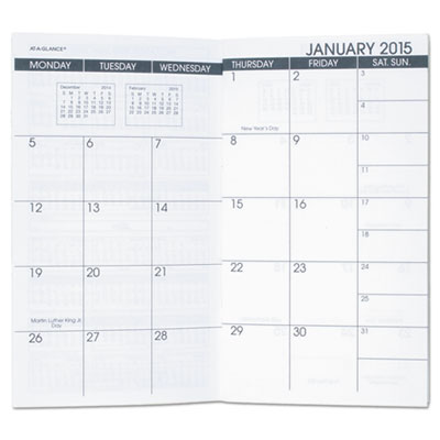 AT-A-GLANCE® Pocket Size Monthly Planner Refill
