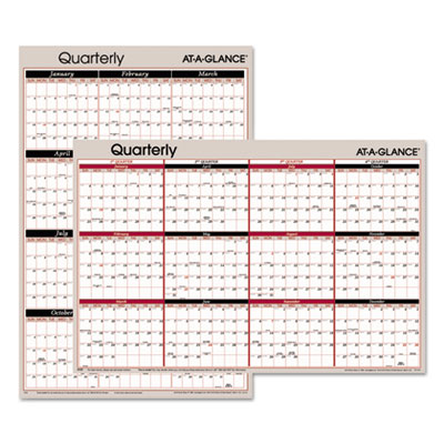 AT-A-GLANCE® Vertical/Horizontal Erasable Quarterly/Monthly Wall Planner
