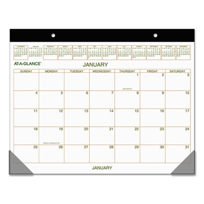 AT-A-GLANCE® Two-Color Desk Pad