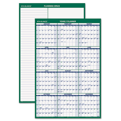 AT-A-GLANCE® Vertical Erasable Wall Planner