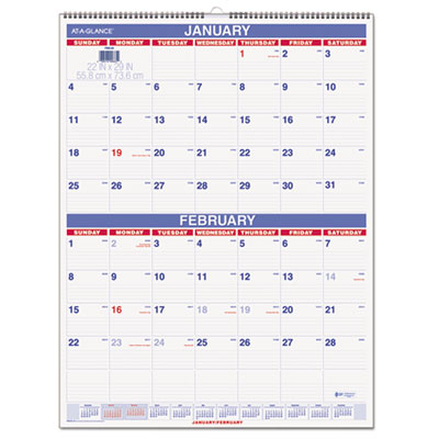 AT-A-GLANCE® Two-Month Wall Calendar
